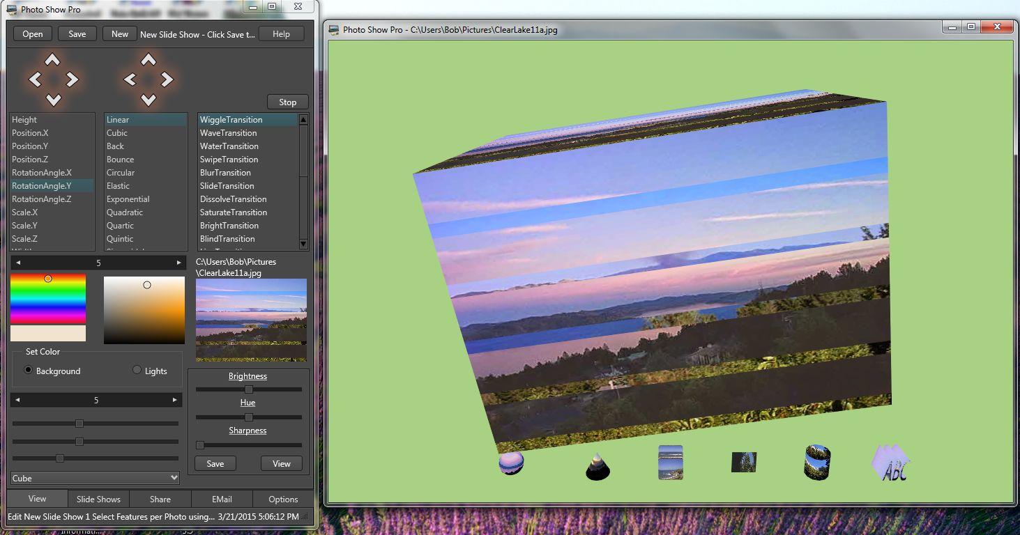 Photo Show Pro software screenshot