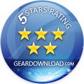 Awarded 5 Stars from Geardownload.com !